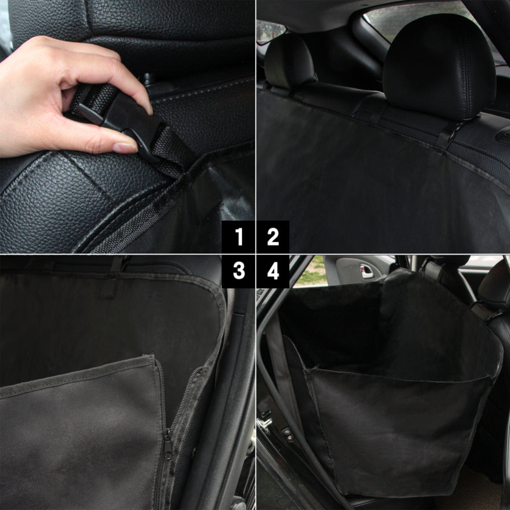 TIROL Pet Dog Car Seat Cover Fold Waterproof back seat cover Hammock Convertible Car Seat Black Fits Most Cars Seat T14623b - TIROL LTD