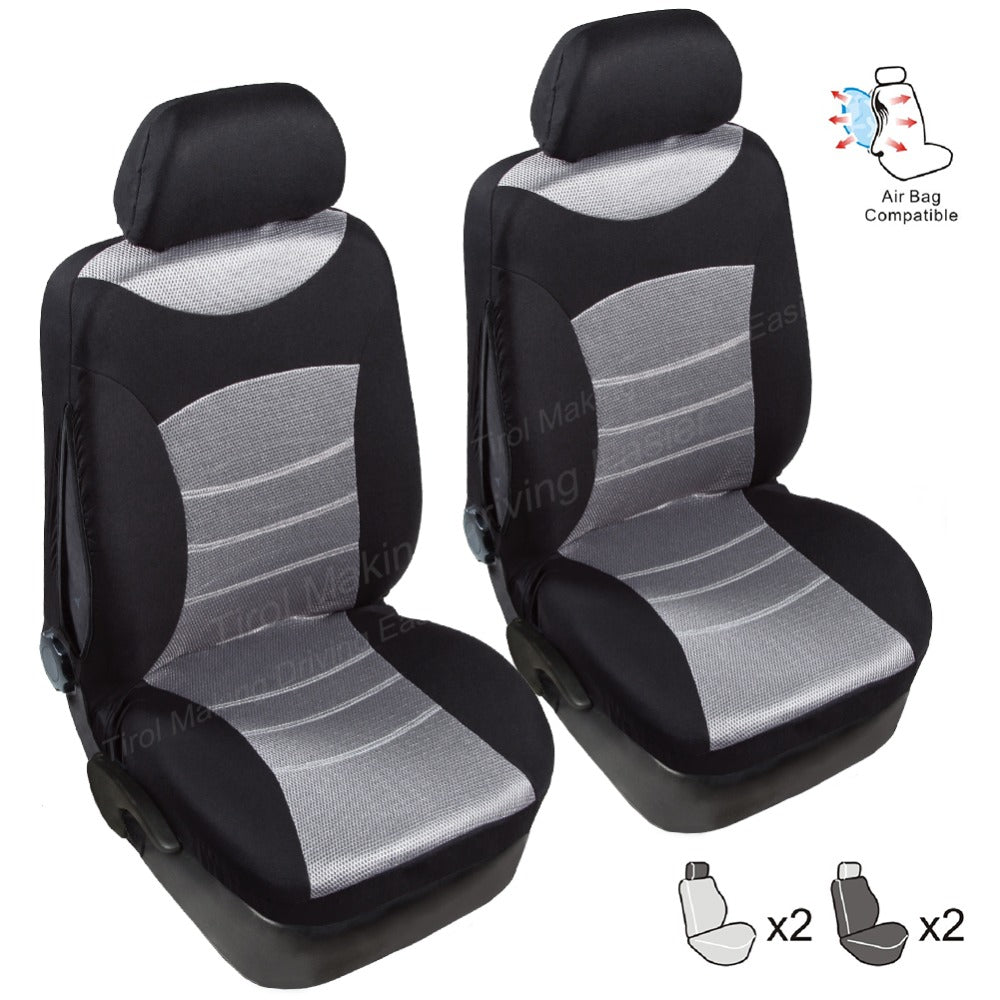 TIROL Universal Car Front Seat Cover 3D Air Mesh Breathable Seat Protector (2 Pack) Airbag Compatible Fit Most Car - TIROL LTD