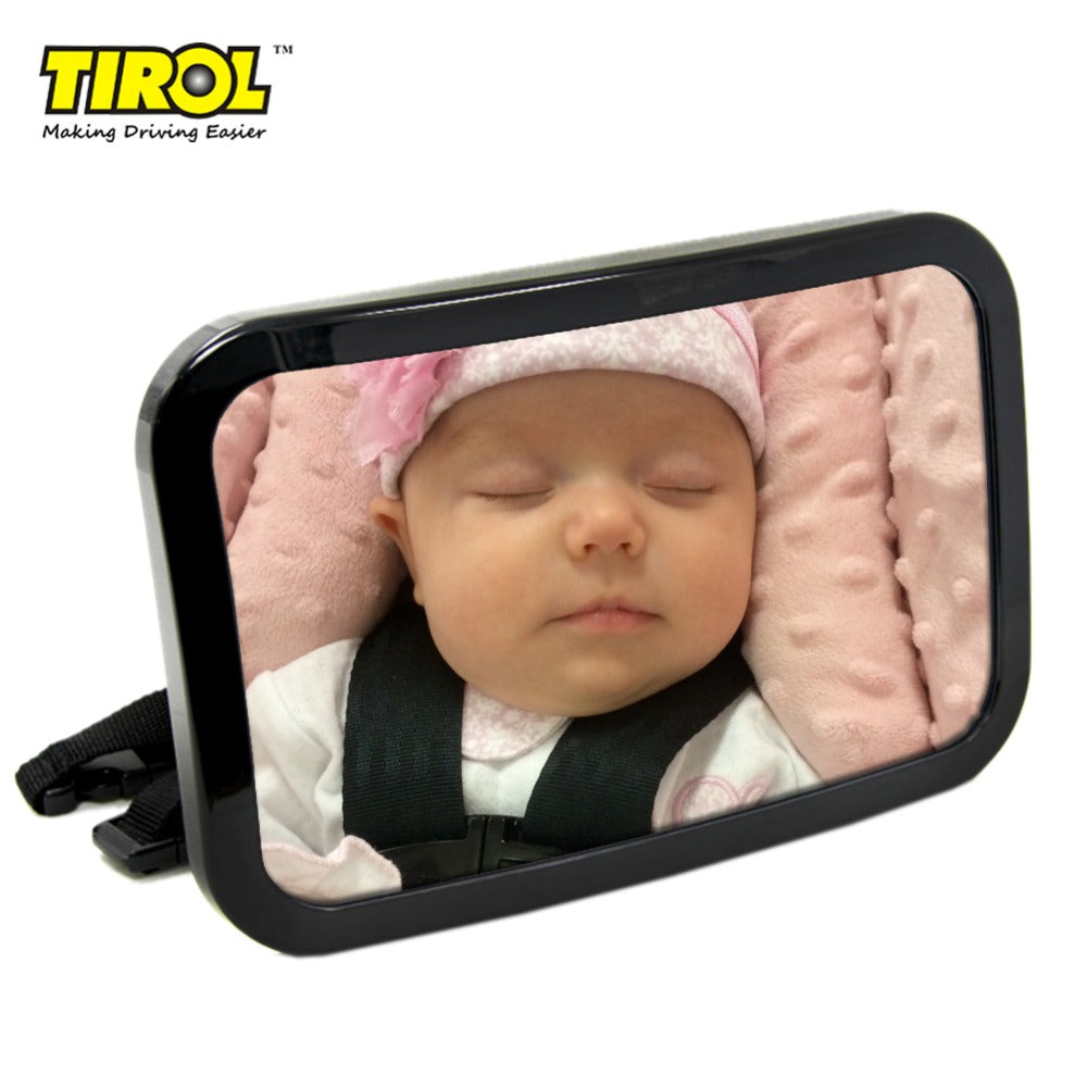 TIROLT22056b Black rectangle Car Adjustable  Baby Mirror/Auto Rear Baby Safety Convex Mirror for Car Baby Safety Products - TIROL LTD