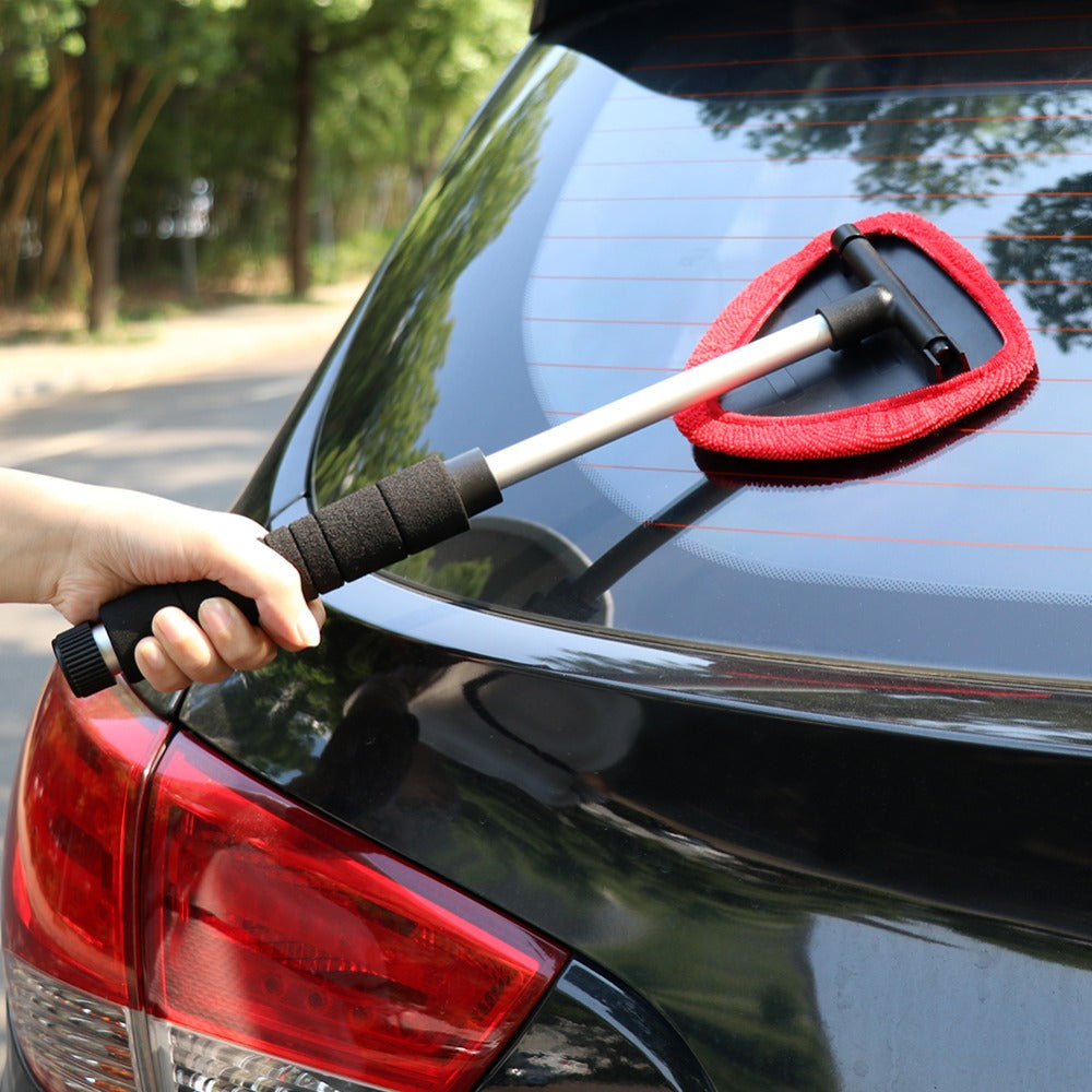 Car Window Clean Brush Microfiber Extendable Windscreen Cleaner Demister Car Clean Tool | TIROL - TIROL LTD