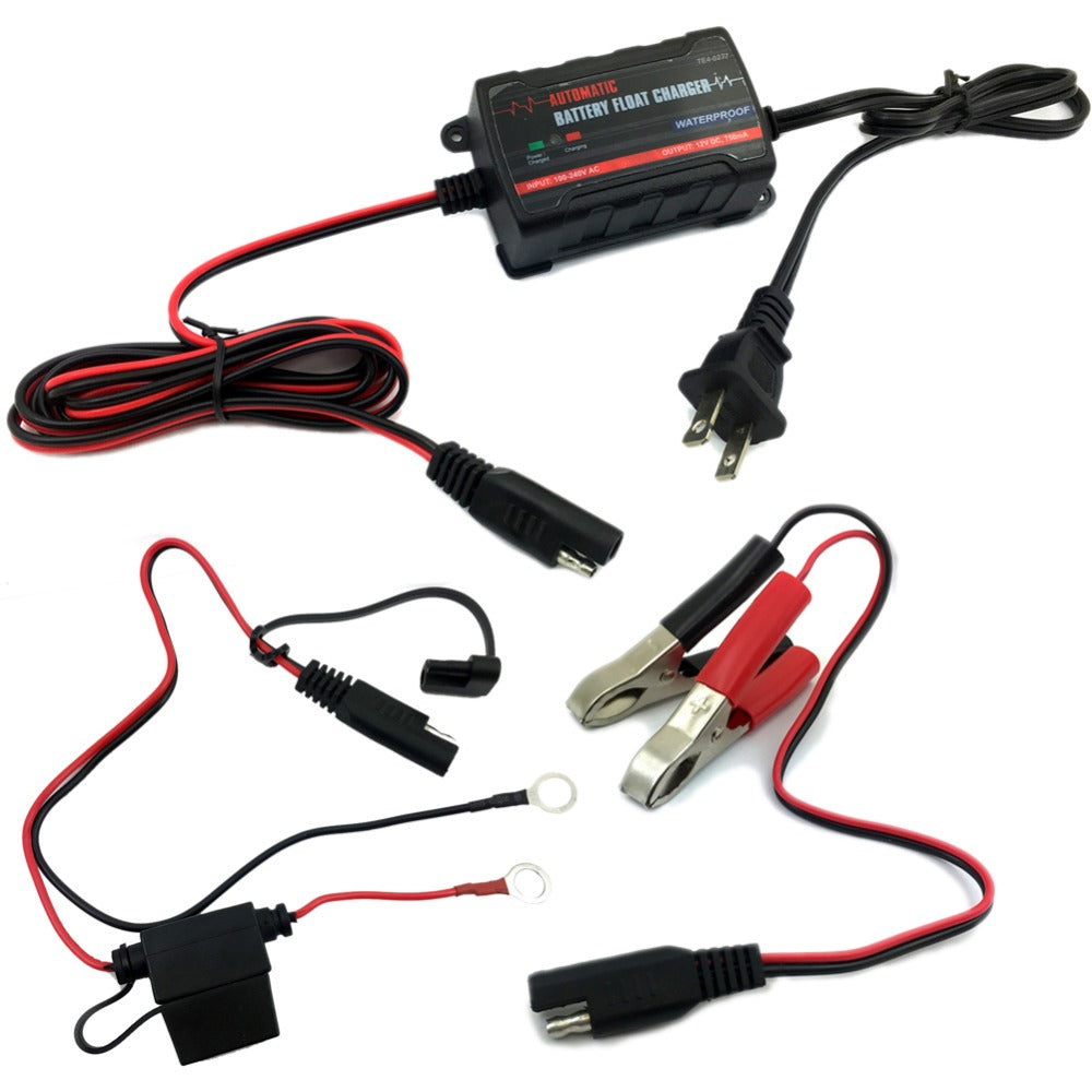 TIROL 750mA 6V 12V Automatic Battery Charger Car Maintainer Lead Maintainer for motorcycle Truck SUV US Plug - TIROL LTD