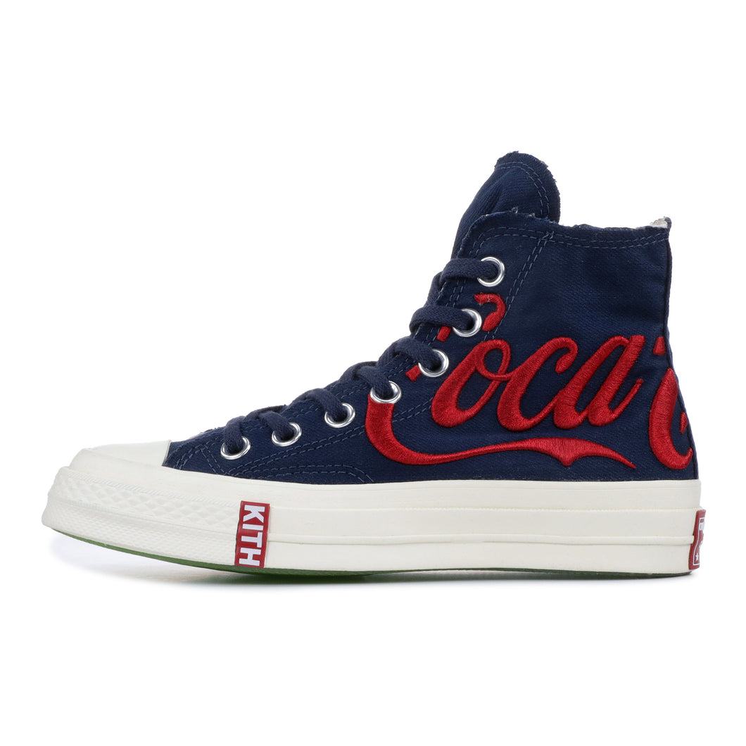 b62116833dea45 Converse x Kith x Coca Cola Chuck Taylor All-Star 70s Hi - Dress Blue