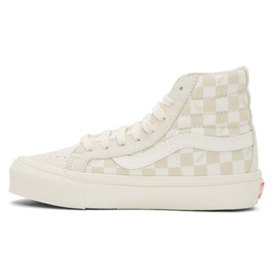Vans OG SK8-Hi Lx Suede Canvas Checkerboard - Off White