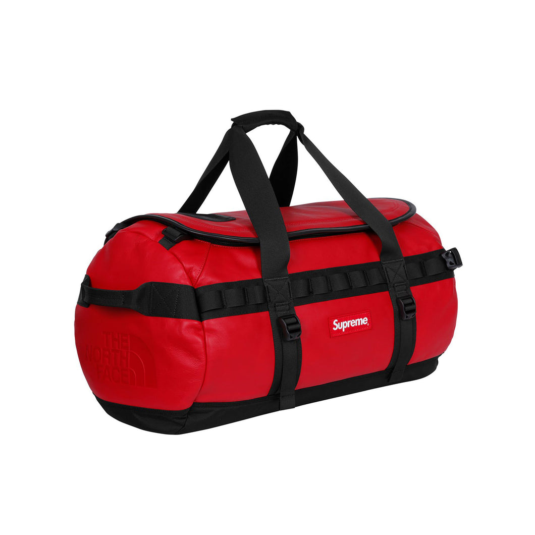 Supreme x The North Face Leather Base Camp Duffel - Red