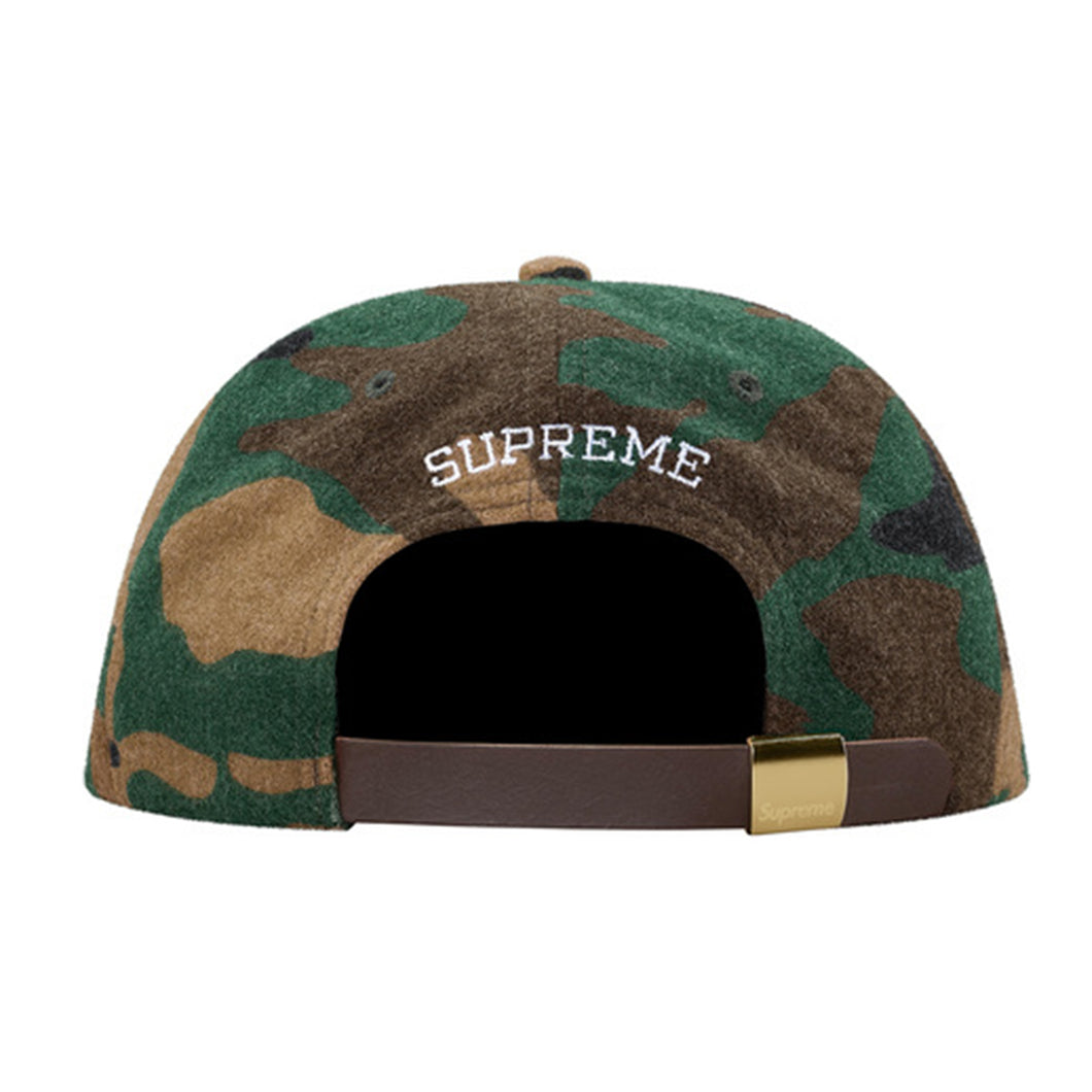 607034aced6 Supreme Wool S Logo 6-Panel Cap - Camo – Solecase Malaysia