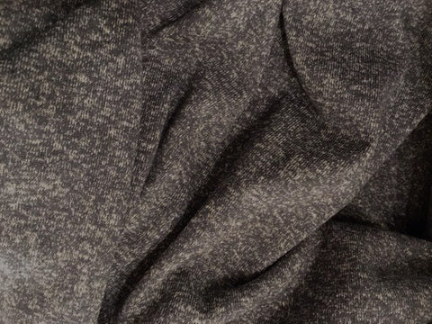Organic Cotton/Hemp Heather Jersey Sweater Knit - Storm Gray
