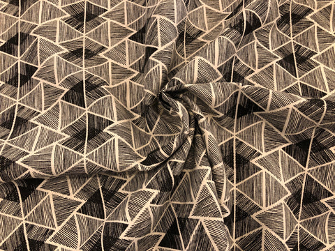 "Organic Cotton/Hemp ""Linen"" - Geometric Print"