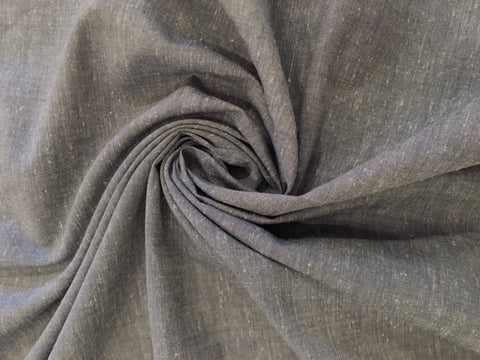 Organic Cotton/Hemp Shirting - Chambray Navy Gray
