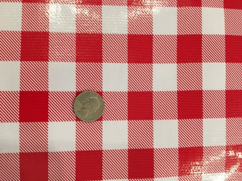 "Oil Cloth - Classic Red 1"" Check"
