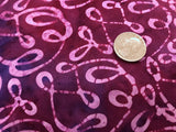 Cotton Batik - Ribbons on Purples