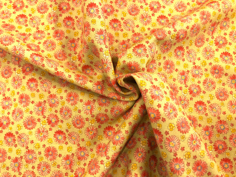 Baby Jessica Mini Floral - 100% cotton quilting by Moda - Pinks & Reds on Kiwi