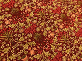 William Morris Inspired Saffron Red Baroque Calico - by Moda - 100% Cotton Quilting