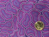 Silky Soft Quilting Weight Cotton from Australia - Purple Mosaic