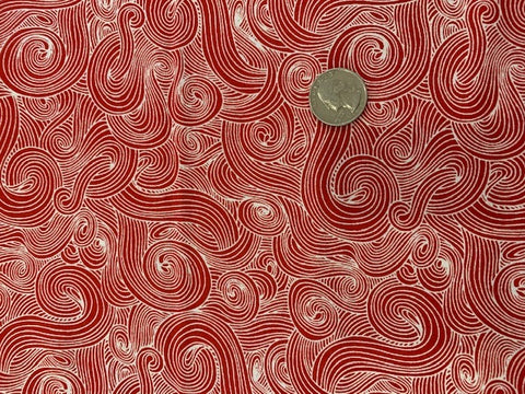 Medusa's Haircut - Red and White -  100% Cotton - Quilting Weight