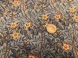 William Morris Inspired Blue Floral Vines Calico - by Moda - 100% Cotton Quilting