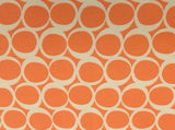 95/5 Cotton/Spandex Jersey - Retro Circles in Bright Salmon