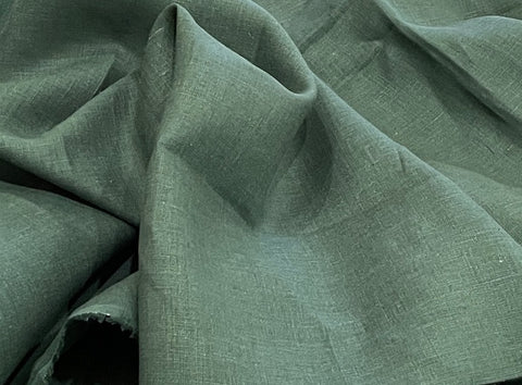 100% Linen - Soft Wash Finish - 5.3oz - Forest Green