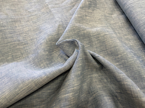 100% Linen Chambray - 3.5oz - Sky & Clouds
