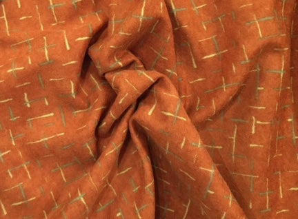 HALF YARD - 100% Cotton Flannel - Moda - Pumpkin Abstract