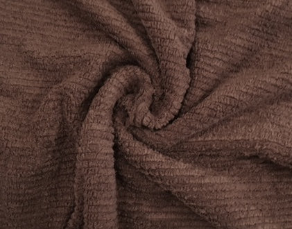 HALF YARD - 100% Cotton Chenille - Cocoa Brown