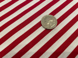 "Red & White Classic 1/4"" Stripe  - 100% cotton quilting"