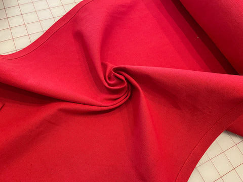 100% Cotton Toweling - True Red