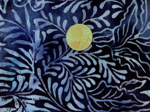 Batik Rayon Challis - Shadow Fern Blue