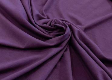 Organic Cotton Soy Spandex Jersey - Eggplant