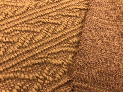 "Wool Blend Woven ""Cable"" Coating"