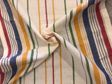 100% Cotton Toweling - Multi Stripe
