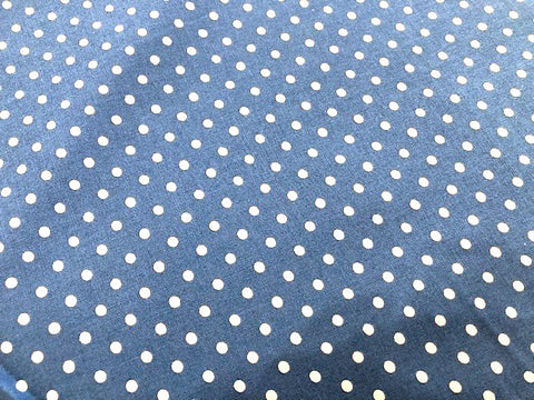 Bubble Pop by Moda - White Dots on Blue - 100% Cotton