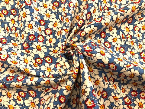 Bubble Pop by Moda - Wildflowers on Blue - 100% Cotton
