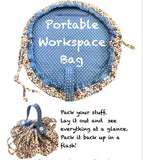 Portable Workspace Bag Card Pattern - HARD COPY OR DIGITAL DOWNLOAD