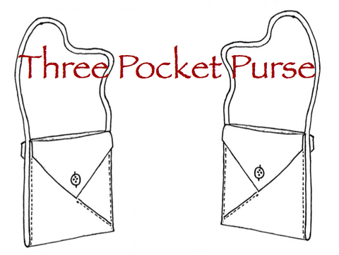 Three Pocket Purse  Card Pattern - HARD COPY OR DIGITAL DOWNLOAD