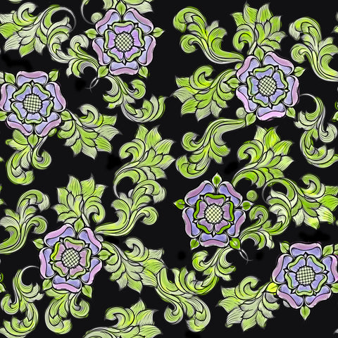 Tudor Rose Exclusive Print - Black