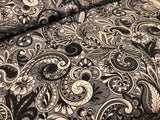 Shades of Gray Paisley 100% Cotton - quilting weight