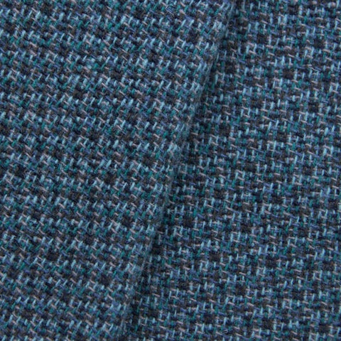 100% Wool Coating - Teal Basket Weave