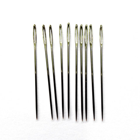10 Pack of Large Eye Embroidery Needles