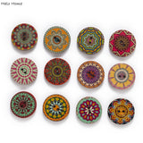 50 Gorgeous Painted Round Wood Buttons