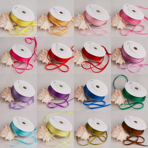 "Pure Silk Ribbon 1/8"" wide - Choose your color!"