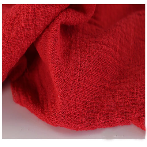 This Linen/Cotton Gauze is Practically Elvish - True Red