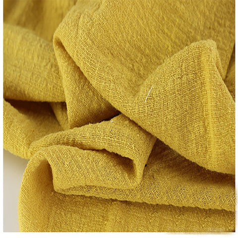 This Linen/Cotton Gauze  is Practically Elvish - Mustard