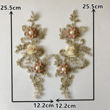 Beaded Lace Floral Appliqués - 21 Styles and Colors