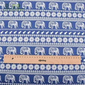 Classic Japanese Prints on Luscious Cotton/Linen Blend - Elephants