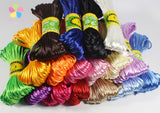 20 yards 2mm Satin Rattail / Macrame Cord in 17 colors
