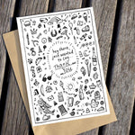 Thank You Doodle Greeting Card