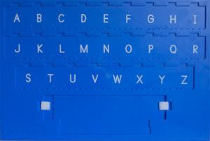 Langauge Board with Capital Letters