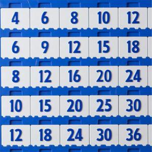 Replacement Multiplication Number Tile for Multiplication Board