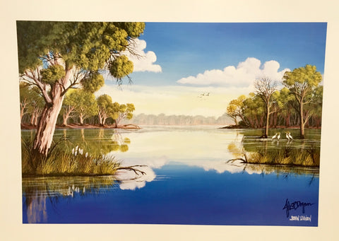 Murray darling river print