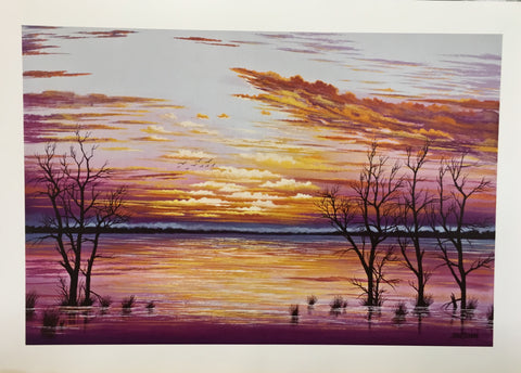 Purple Menindee lake Print